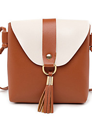 cheap -Women's Bags PU Leather Shoulder Messenger Bag Tassel for Daily / Holiday Black / Red / Blushing Pink / Light Gray / Brown