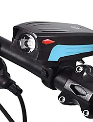 cheap -Bike Horn Light Bike Headlight With Touch Button Waterproof Bicycle LED Headlight With Super Loud 130 DB Bike Horn 5 Lighting Modes 5 Horn Modes Rechargeable USB Bicycle Light Horn