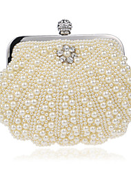 cheap -Women's Bags Polyester Evening Bag Pearls Crystals Wedding Bags Party Event / Party Beige