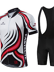 cheap -21Grams Men's Short Sleeve Cycling Jersey with Bib Shorts Black Purple Yellow Plus Size Bike Quick Dry Breathable Sports Sports Mountain Bike MTB Road Bike Cycling Clothing Apparel / Stretchy