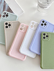 cheap -Case for iPhone 11Pro Max Pure Color Camera Fine Hole Protective Phone Case XS Max Shockproof Silicone Phone Back Cover 7 8Plus SE 2020 Protective Case