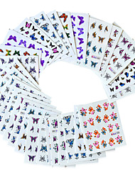 cheap -30 pcs Water Transfer Sticker Butterfly nail art Manicure Pedicure Eco-friendly / Water Resistant / Best Quality Romantic / Sweet Daily / Festival