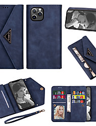 cheap -Wallet Case for Apple iPhone 12 11 SE2020 6.1 inch Zipper Leather Wallet Case Wrist Strap Flip Case Bumper Cover Lanyard Case for Women Girls Businessman iPhone 12 Pro Max iPhone 11 Case