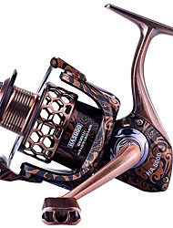 cheap -Fishing Reel Spinning Reel 5.2:1, 5.1:1 Gear Ratio+1 Ball Bearings Sea Fishing / Freshwater Fishing / Trolling & Boat Fishing / Hand Orientation Exchangable