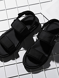 cheap -Men's Summer Casual Daily Sandals Walking Shoes Microfiber Breathable Non-slipping Wear Proof Black