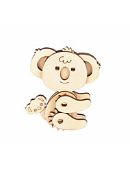 cheap -3D Puzzle Paper Model Model Building Kit Bear Animals DIY Simulation Hard Card Paper Classic Kid's Unisex Toy Gift