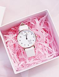 cheap -Kids Quartz Watches Quartz New Arrival Chronograph Analog White Black Blushing Pink / PU Leather