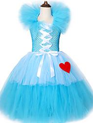 povoljno -Alice in Wonderland Movie & TV Theme Costumes Haljine Cosplay Nošnje Dječji Beba Djevojčice Seksi blagdanski kostimi Halloween New Year Festival / Praznik Chinlon Plava Karneval kostime Uzorak