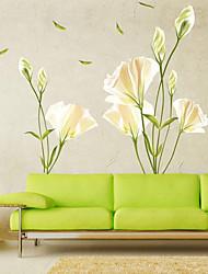 billige -blomster / botaniske vægklistermærker plane vægklistermærker dekorative vægklistermærker pvc boligdekoration vægoverføringsbillede væg / vinduesdekoration 1 stk
