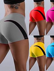 povoljno -Žene Kratke Hlače za jogu Kratke hlače Kontrola trbuščića Butt Lift Prozračnost Bijela Crvena Plava Pamuk Yoga Fitness Trening u teretani Sportski Odjeća za rekreaciju Rastezljivo