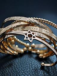 cheap -Women's Bracelet Bangles Cuff Bracelet Vintage Style Heart Star Stylish Luxury Elegant Alloy Bracelet Jewelry Gold For Gift Date Beach