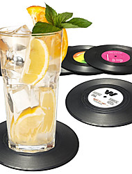 cheap -Record Disk Coasters for Drinks  Cocktail Mixing Drinkware Beer 6 Pack - Preventing Tabletop from Damage