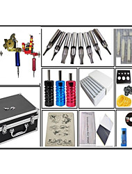 cheap -Superior quality Tattoo Kit 3 Machine LCD Power Supply 50 tattoo needles