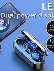 Недорогие -F9 tws беспроводные наушники bluetooth5.0 светодиодный цифровой дисплей с сенсорным экраном с 2000 мАч power bank микрофон гарнитуры