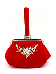 cheap -Women's Crystals Suede Evening Bag 2020 Black / Red