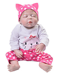 cheap -Reborn Baby Dolls Clothes Reborn Doll Accesories Cotton Fabric for 22-24 Inch Reborn Doll Not Include Reborn Doll Cat Soft Pure Handmade Girls' 3 pcs