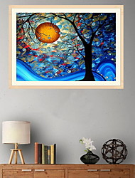 cheap -Frame River Light DIY Painting By Numbers Kit Landscape Acrylic Paint By Numbers On Canvas Handpainted Oil Painting Gift