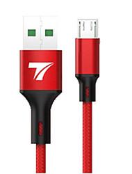 billige -Mikro USB Kabel 5 A 1,0 m (3 ft) Hurtig kostnad TPE USB-kabeladapter Til Samsung / Huawei / Xiaomi