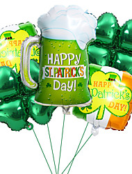 cheap -Party Balloons 6 pcs Stpatrics Day Party Supplies Aluminum Balloons Boys and Girls Party Decoration 18inch for Party Favors Supplies or Home Decoration