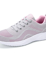 cheap -Women's Trainers / Athletic Shoes Summer Fall Flat Heel Round Toe Casual Preppy Athletic Daily Color Block Synthetics Running Shoes Walking Shoes Black / Red / Black / Gray