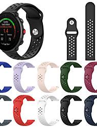 cheap -Silica Gel Watch Band Strap for POLAR VANTAGE M 23cm / 9 Inches 2.2cm / 0.9 Inches