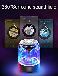 cheap -C7 Transparent crystal Bluetooth Speaker Colorful Atmosphere Light Bluetooth Speaker Portable Music Audio Stereo Sound Speaker