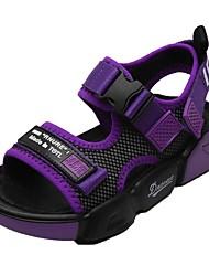 cheap -Boys' Comfort PU Sandals Little Kids(4-7ys) Black / Purple / Gray Summer