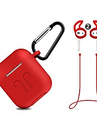 cheap -Silicone Cover Case + Carabiner Hook + Anti-lost Earphone Strap + Ear Tips Set for Apple AirPods
