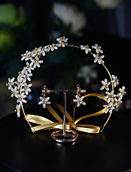 cheap -Imitation Pearl / Rhinestone / Alloy Headbands / Suits with Rhinestone / Faux Pearl 1pc Wedding / Daily Wear Headpiece