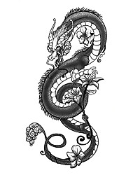 cheap -1 pcs tattoo designs Temporary Tattoos Small full arm waterproof tattoo sticker symbol totem animal text convenient and practical tattoo sticker