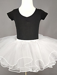 cheap -Ballet Skirts Cascading Ruffles Ruching Girls' Training Performance Natural Cotton Polyester