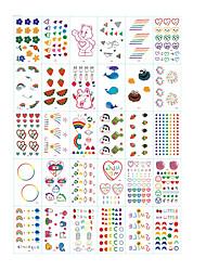 cheap -30 Sheets/set Tattoo Designs Temporary Tattoos Flower Tattoo DesignsWhite Cloud Rainbow Love Flower
