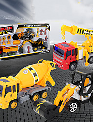 cheap -Excavator Toy Construction Truck Toys Engineering Vehicle Mini Crane Dump Truck Blender Simulation Drop-resistant Plastic Mini Car Vehicles Toys for Party Favor or Kids Birthday Gift 10-13 pcs