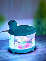 cheap -Novel Fish Tank LED Night Light Household Ultrasonic Air Humidifier Aquarium Small Cylinder Air Purifier Misting Maker Lamp High Capacity Sprayer USB Mini Fresh Filter