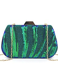 cheap -Women's Bags Synthetic Evening Bag Sequin Wedding Bags Party Event / Party Black Green Silver