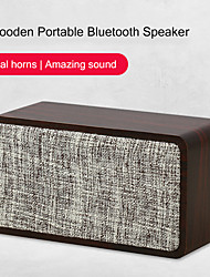 cheap -Q2 Bluetooth Speaker Cloth Wooden 1200mAh Dual Horn 6W Wireless Subwoofer Portable Bass Column Home Living Speakers
