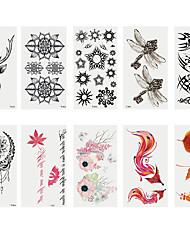 cheap -6 Sheets Randomly Tattoo Designs Temporary Tattoos Fashion Body Art Adults Waterproof Hand Fake Tatoo Deer Maple Leaf Fox Dragon Fly Creative Shape Tattoo DesignT01-T10