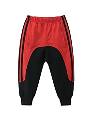 cheap -Kids Boys' Basic Black & Red Color Block Patchwork Pants Rainbow