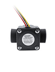 cheap -SEN-HZ43WA G 3/4 Hall Effect Water Flow Sensor Liquid Level Switch Flowmeter Rate Tank Mini Float Switch