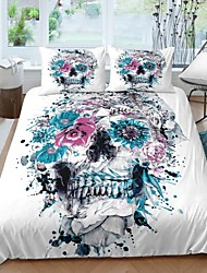 cheap -Home Textiles 3D Bedding Set  Duvet Cover with Pillowcase 2/3pcs Bedroom Duvet Cover Sets  Bedding Skull