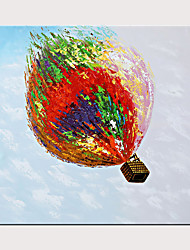 cheap -100% Hand-Painted Oil Painting Modern Art Hot Air Ballon Rolled Canvas Is Suitable For Home Decoration