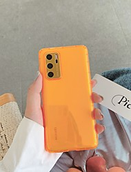 cheap -Case for Huawei P 30 30pro 40 40pro Mate 30 30pro Translucent Back Cover Solid Colored TPU