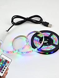 cheap -5M USB LED Strip Lights SMD 2835 DC 5V Waterproof Remote Control Flexible Light Lamp 60LEDs / M Desktop Decoration Tape TV Background Room Lighting