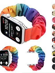 cheap -Elastic Fabric Band for Apple Watch 5 Women Woven Canvas Cloth Strap Scrunchies Bracelet Accessories for iwatch series 5 4 3 2 1