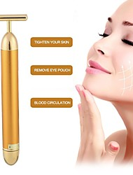 cheap -Waterproof Golden Facial Massager Slimming Electric Beauty Stick Facial Massage Roller Vibrator Direct Delivery