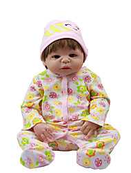 cheap -Reborn Baby Dolls Clothes Reborn Doll Accesories Cotton Fabric for 22-24 Inch Reborn Doll Not Include Reborn Doll Flower Bee Soft Pure Handmade Girls' 3 pcs