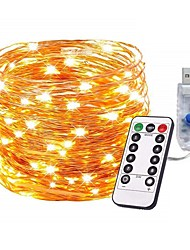 cheap -10m 100Leds Copper Wire LED String Lights Starry Lights Christmas Fairy lights Battery Powered Remote Controller New Year Wedding