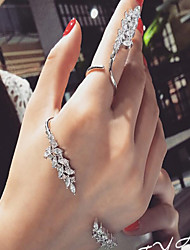 cheap -Alloy Rings with Crystals / Rhinestones 2pcs Wedding / Special Occasion Headpiece