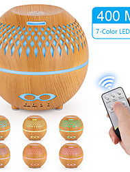 cheap -400ml remote control aromatherapy essential oil diffuser hollow ultrasonic humidifier