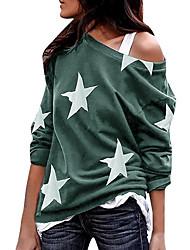 cheap -Women's T-shirt Galaxy Tops Round Neck Daily Spring Fall Gray S M L XL 2XL 3XL